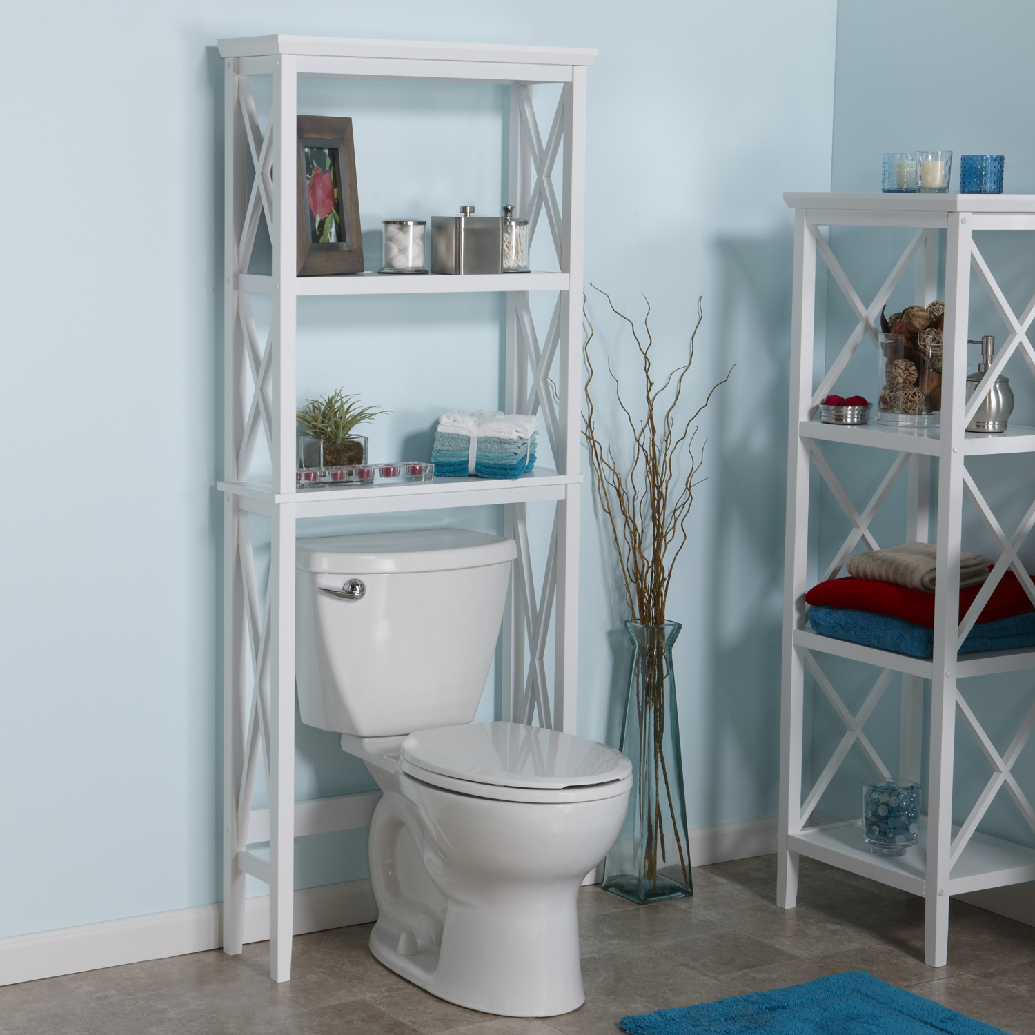 RiverRidge Home X- Frame Bath Collection - Spacesaver - White ...
