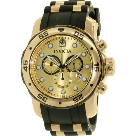 Men's Pro Diver 17885 Black Rubber Swiss Parts Chronograph Dress Watch ()