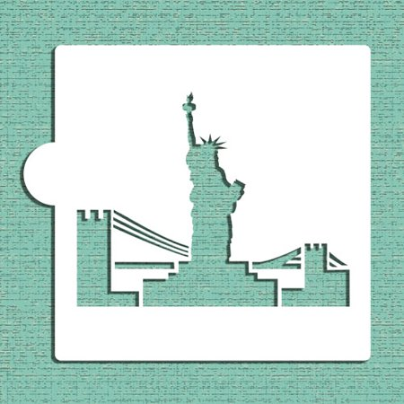 Designer Stencils Statue of Liberty Cookie and Craft Stencil CM053 (Statue Of Liberty Stencil)