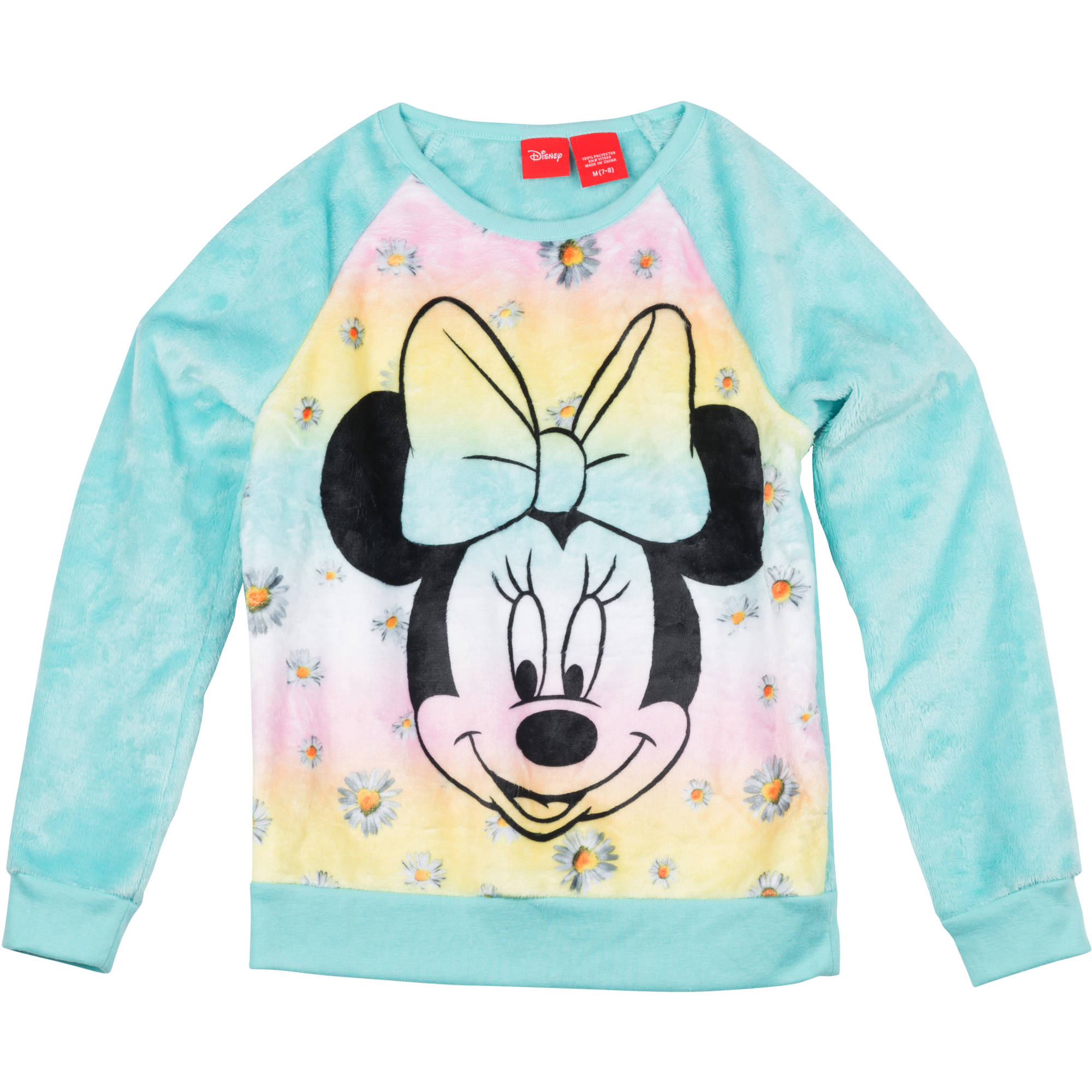 "Minnie Mouse Girls' Printed Fur Sweatshirt ""Minnie Face Sub"""