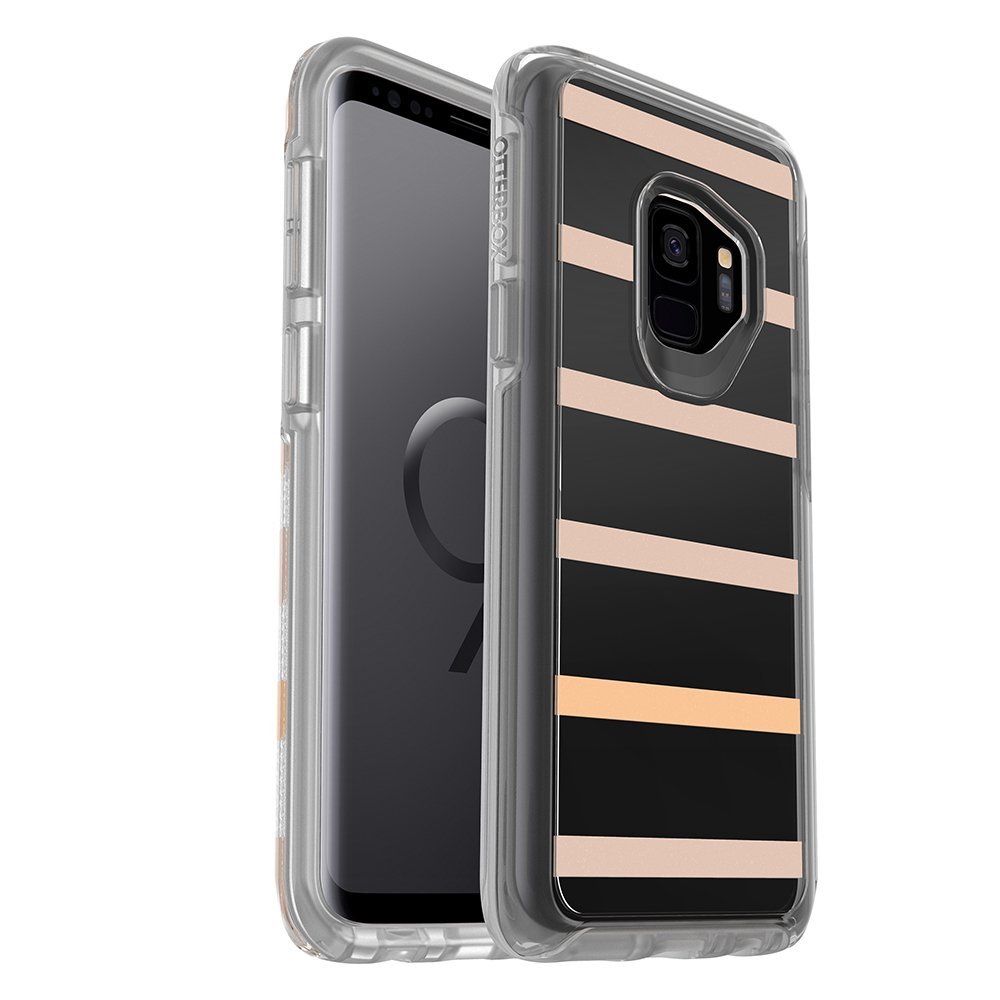 OtterBox Symmetry Series Case Lightweight And Protective For Samsung Galaxy S9 (NOT PLUS) - Inside The Lines, Clear Pink