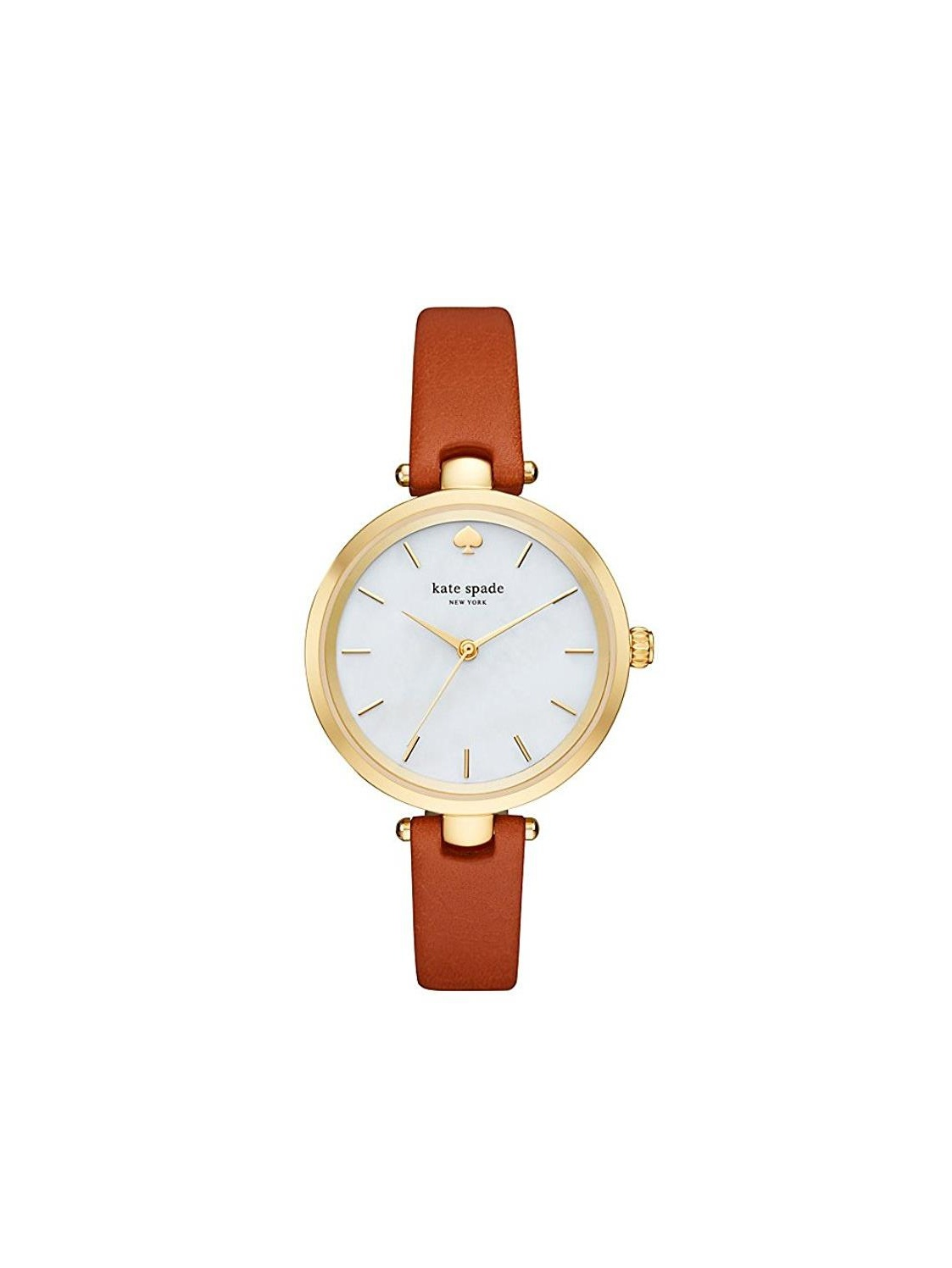 Holland White Dial Brown Leather Ladies Watch KSW1156