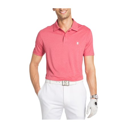 79a9a91271507a IZOD Mens Golf Cutline Rugby Polo Shirt claretred L - image 1 of 1 ...