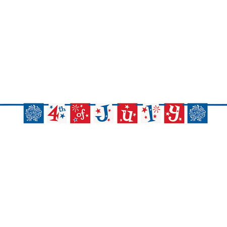 Fourth Of July Banner (4th of July Pennant Banner)