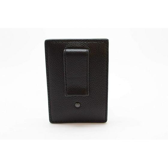 7397e958 Coach Men's Money Clip Card Case Calf Leather Wallet - Black