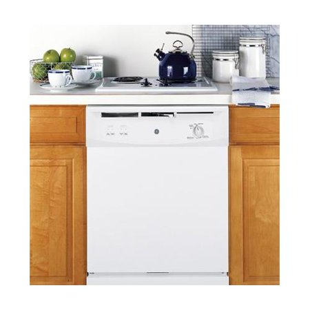GE SPACEMAKER UNDER-THE-SINK 24-INCH DISHWASHER WITH TOUCHPAD CONTROLS, WHITE, 5 CYCLES / 2 OPTIONS