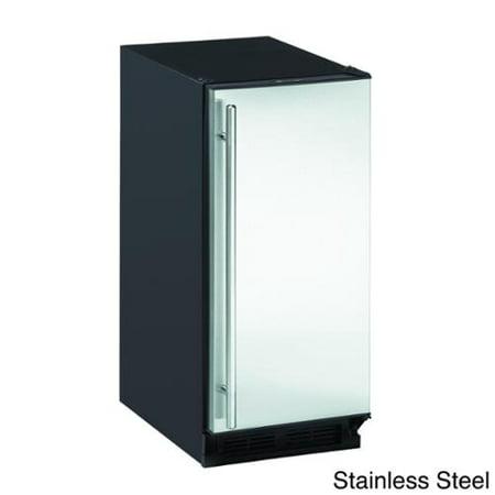 Ada 15 inch stainless steel ice maker black reversible for 15 inch door