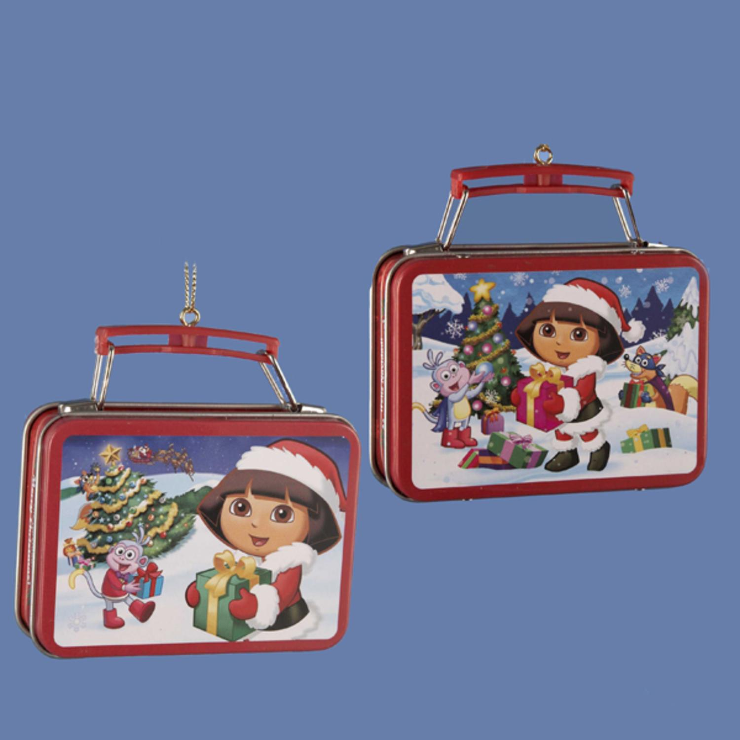 """Pack of 24 Assorted Dora the Explorer Mini Lunch Box Christmas Ornaments 3.25"""""""