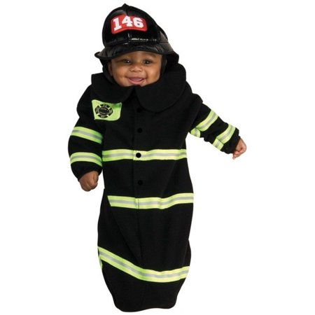 Firefighter Bunting Baby Infant Costume size 0-9 MO Newborn Outfit - Baby Popping Out Of Stomach Halloween Costume