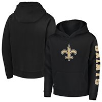 New Orleans Saints NFL Pro Line by Fanatics Branded Youth Zone Team Pullover Hoodie - Black