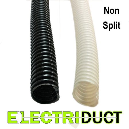 Non-Split Wire Loom / Flex Tubing - Black / White -
