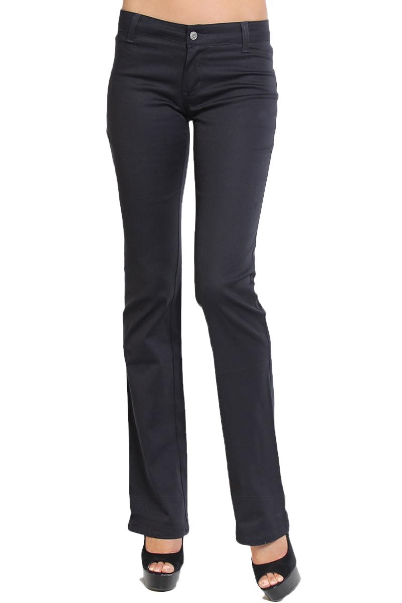 TheMogan Junior's Dickies Girl Slim Fit Bootcut Leg Mid Rise Twill Uniform Pants
