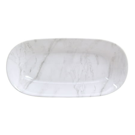 Better Homes & Gardens Marble Finish Oval Serve Bowl ()