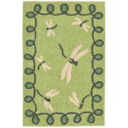 """Napa Dragonfly Rug-Color:Green,Size:36""""Lx24""""Wx0.5""""H"""