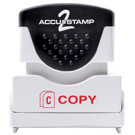 2 Message Stamp with Micro ban Protection, COPY, Pre-Ink, Red Ink (035594), Red Ink By