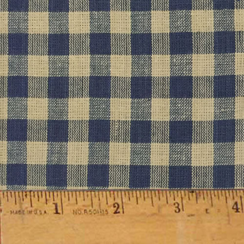 Heritage Navy Blue 5 Plaid Homespun Cotton Fabric Sold by the Yard - JCS Fabric