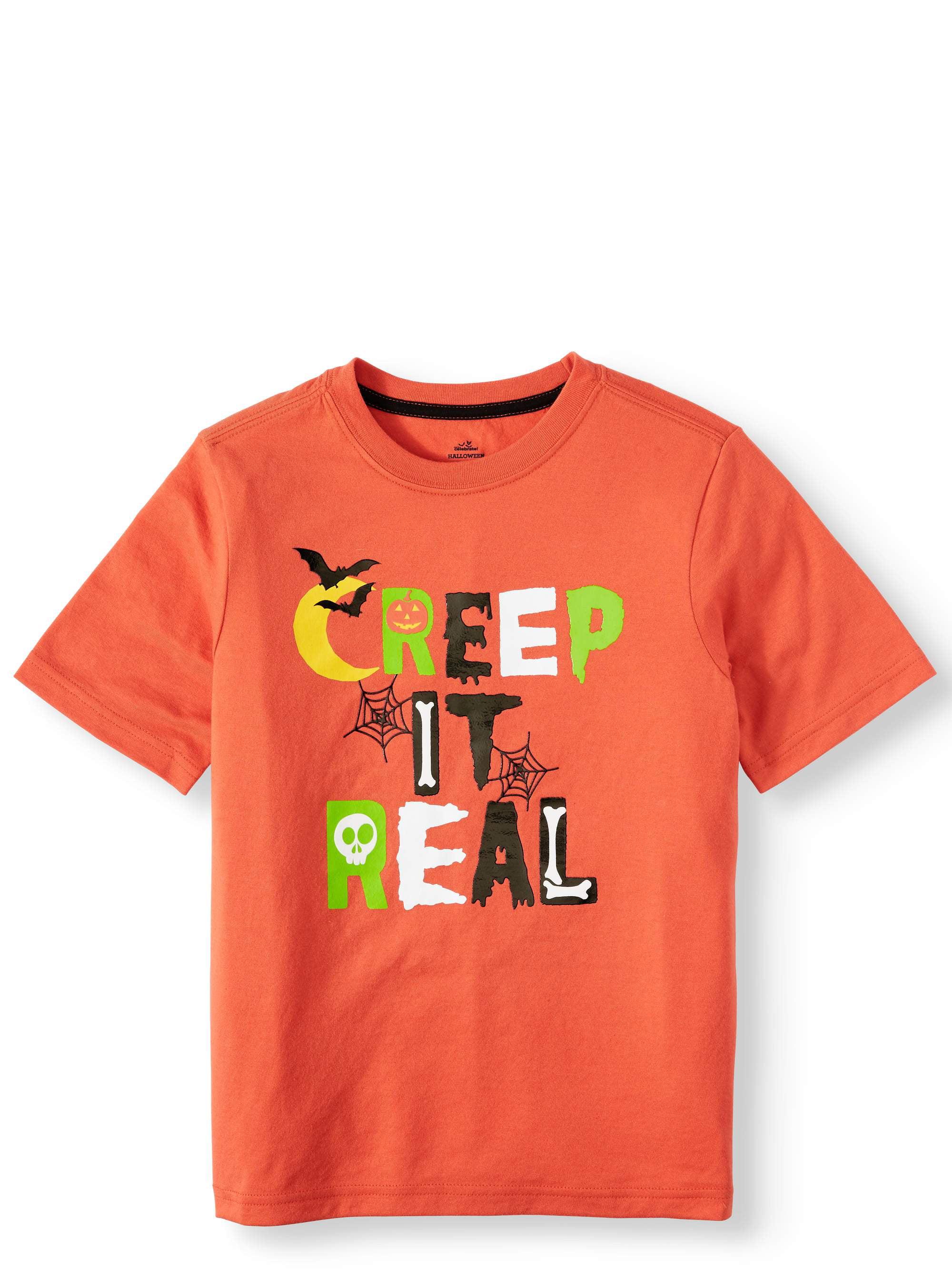 Snoopy and Woodstock Trick Or Treat Halloween Baby Short Sleeve Bodysuit