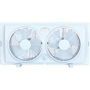 "Optimus 7"" Twin Window 2-Speed Fan, Model #F-5280, White"
