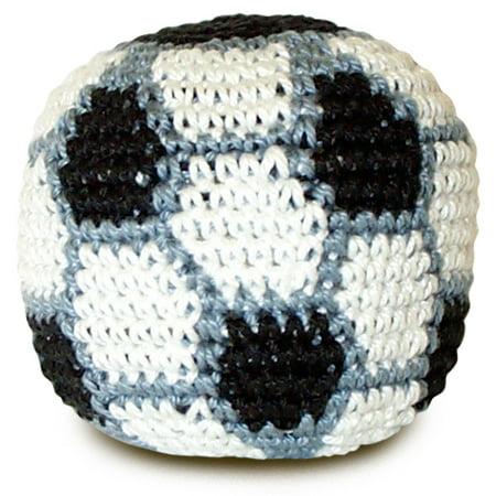 Soccer Crocheted Footbag Hacky Sack
