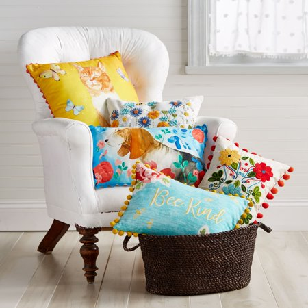 The Pioneer Woman Butterfly Cat 40x40 Decorative Pillow Walmart Classy Decorative Pillows At Walmart