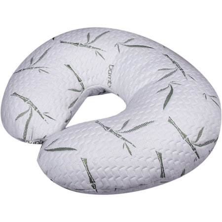 Nursing, Breastfeeding Baby Support Pillow, Newborn Infant Feeding Cushion | Portable for Travel | Nursing Pillow for Boys & Girls With Washable Zippered Bamboo Pillow