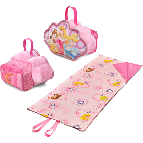 Disney Princess On-The-Go Pillow and Sleeping Bag Set ...