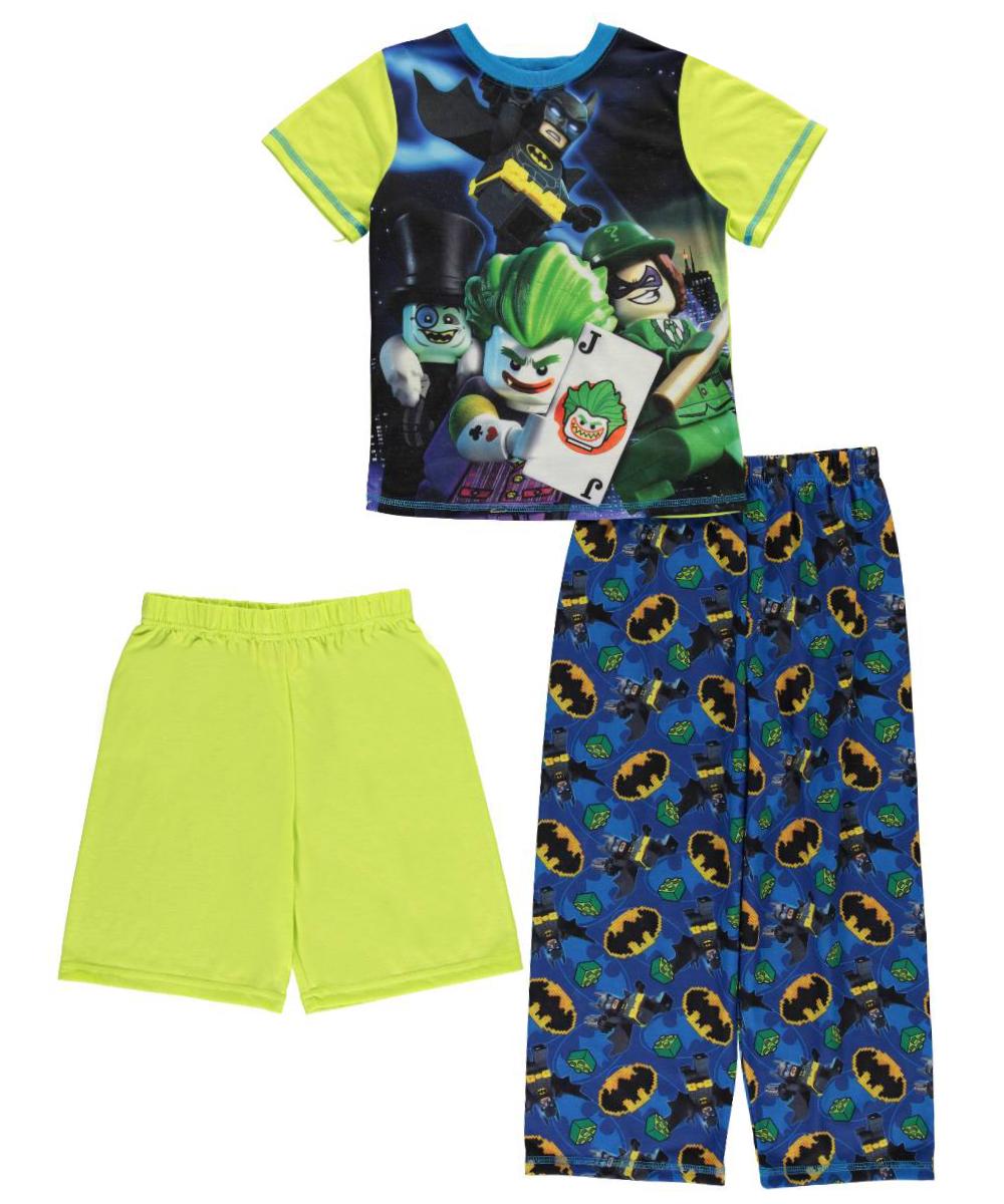 "Lego Batman Big Boys' ""Joker & Friends"" 3-Piece Pajamas (Sizes 8 - 20)"