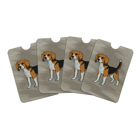 Beagle Pet Dog Credit Card RFID Blocker Holder Protector Wallet Purse Sleeves Set of 4 (Credit Card Dog Toy)
