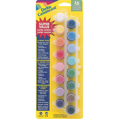 Ceramcoat Acrylic Paint Pots, 16 Colors