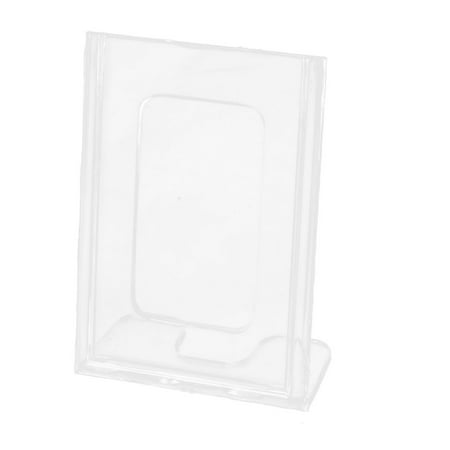 Display Stand Holder (Office Counter L-Shaped Clear Plastic Display Name Business Card Holder Stand)