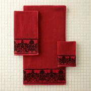 Better Homes & Gardens Red Scroll Bath Towel, 1 Each