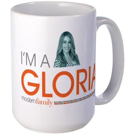 CafePress - Modern Family I'm A Gloria Large Mug - 15 oz Ceramic Large Mug