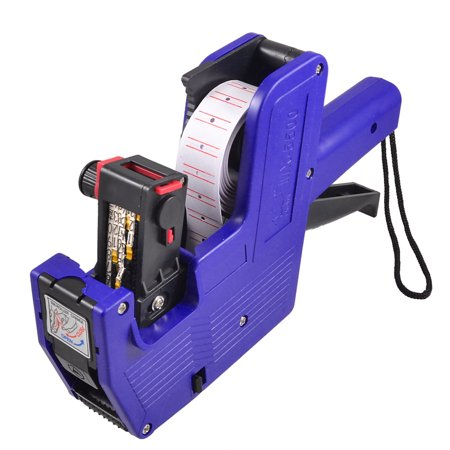 Unique Bargains Blue Plastic Housing Handheld Shopping Price Labeller Labeler Tag Gun Necessary tool for shop, super market or other needs to shot price label. Portable with the hand strap, compact size and lightweight. Compatible with universal price label. 8 digits design is for convenient use. Easy to operate and works efficiently.