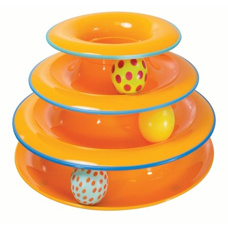 Petstages Tower of Tracks Ball and Track Interactive Cat