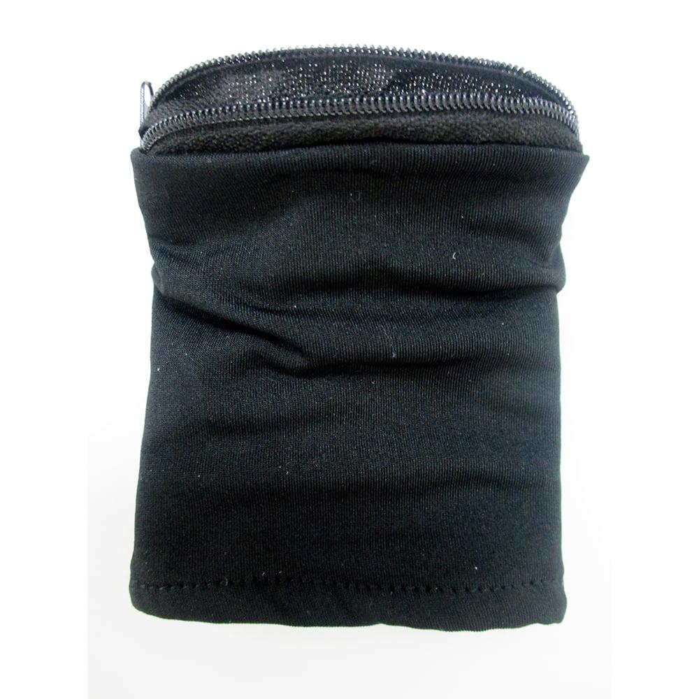 Pocket Sports Gym Key Card Zipper Travel Running Money Wrist Wallet Black