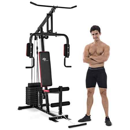 Costway Multifunction Cross Trainer Workout Machine Strength Training Fitness Exercise