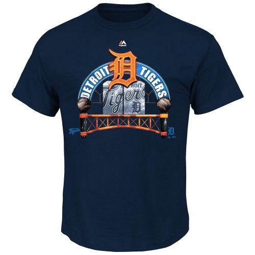 Detroit Tigers Majestic Imposing Your Will T-Shirt - Navy Blue