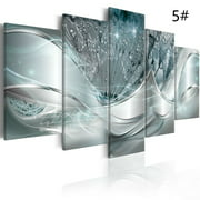 Set Of 5, Canvas Painting Abstract Modern Flower Frameless Canvas Wall Art Print Picture For Home-Decor (No Frame Included)