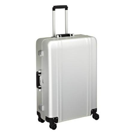 Zero Halliburton Classic Aluminum 28 Inch 4 Wheel Spinner Travel Case, Silver, One Size