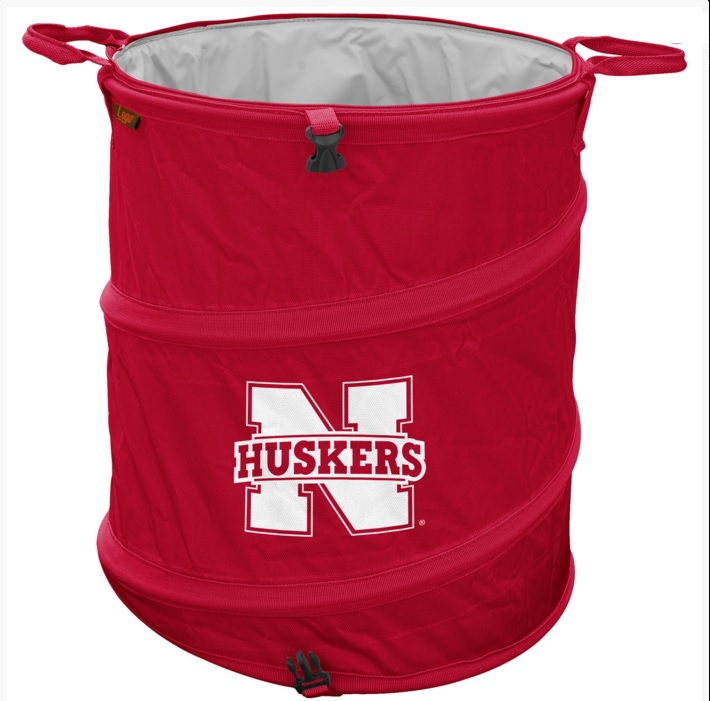 NEBRASKA CORNHUSKERS OFFICIAL LOGO TRASH CAN COOLER