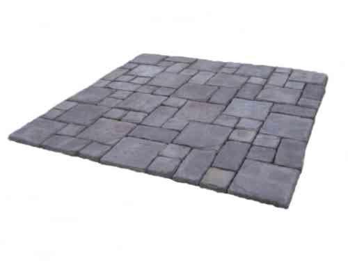 Bon Cass Stone Gray Concrete Patio On A Pallet Paver Kit