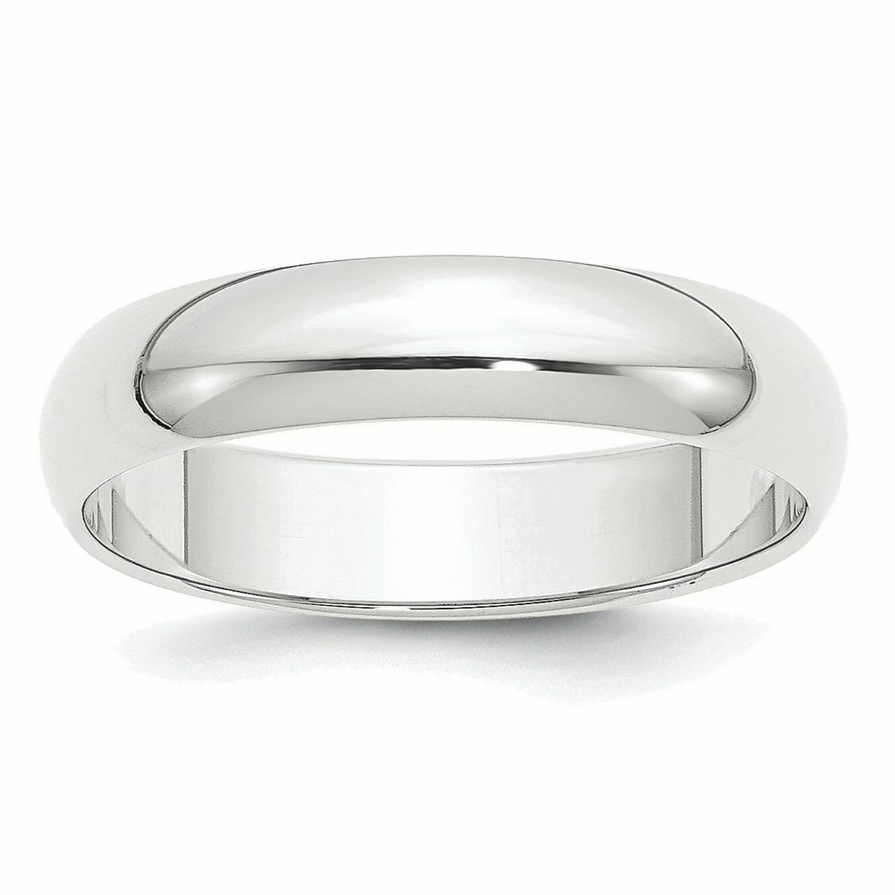 Platinum 5mm Half-Round Featherweight Band Ring PLWHR050 by