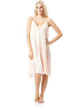 2bd6e350d8 Casual Nights Women s Satin Lace Camisole Nightgown