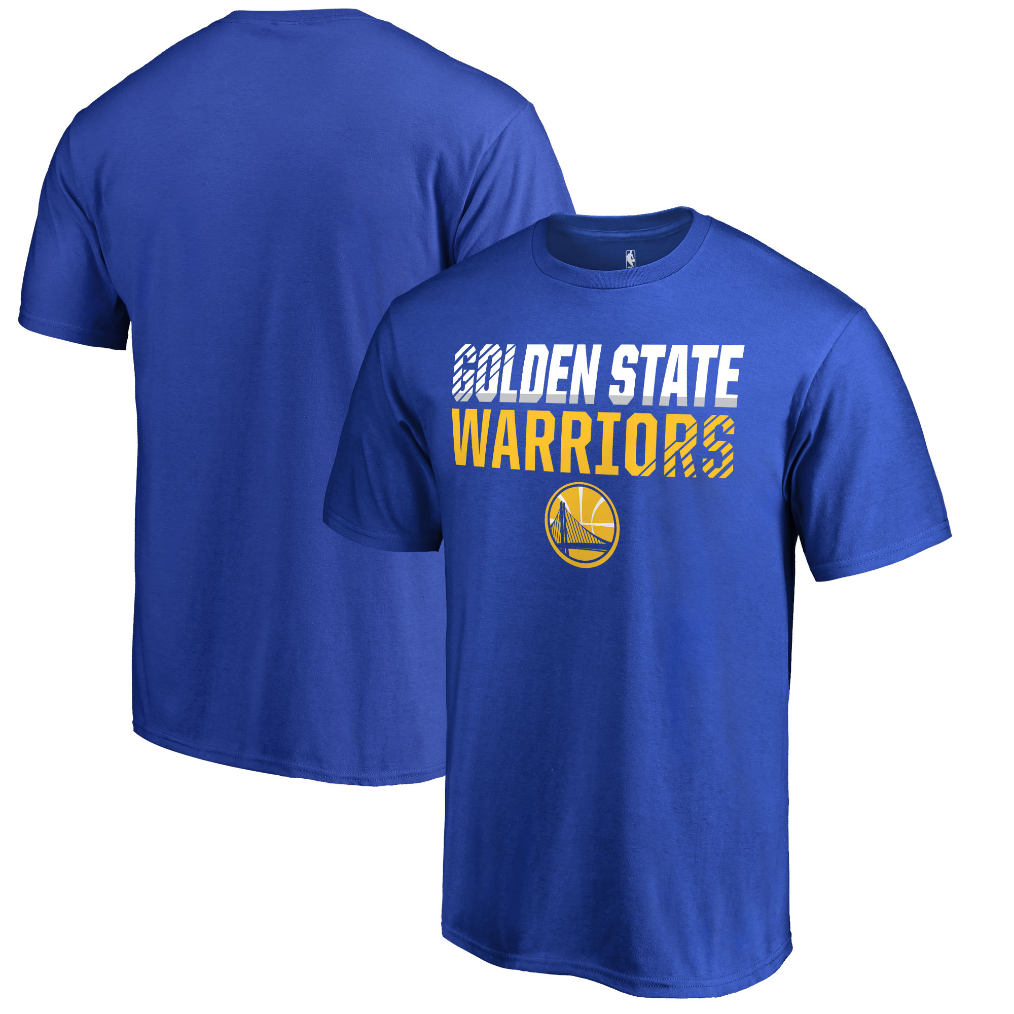 Golden State Warriors Fanatics Branded Fade Out Big and Tall T-Shirt - Blue