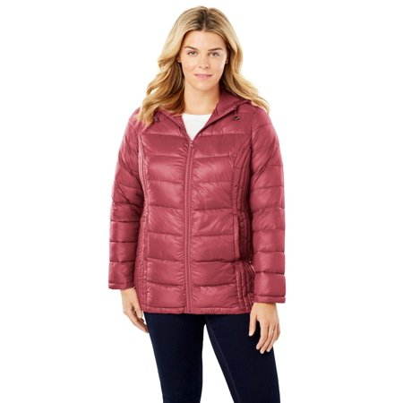 1743327bb73 Woman Within - Plus Size Packable Puffer Jacket - Walmart.com