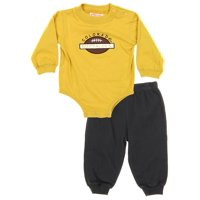 NCAA Infant Colorado Buffaloes Creeper Top and Pants Set, Gold & Black