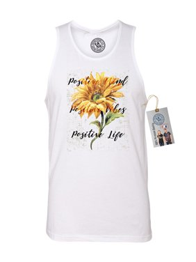 6b439767fb68e5 Product Image Positive Mind Vibes and Life Sunflower Mens Tank Top Shirt