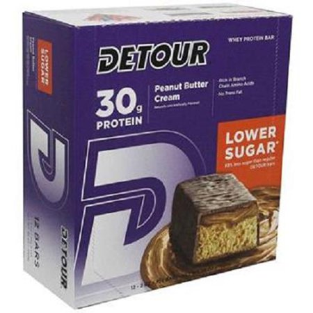 Product Of Detour Lower Sugar, Peanut Butter Cream, Count 12 - Nutrition Bar With Protein / Grab Varieties & Flavors