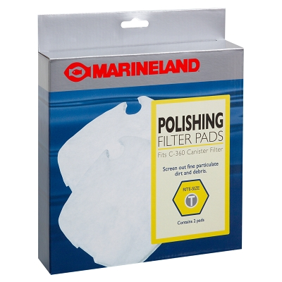 Aquatics Marineland PA11482 Brown Replacement Polishing Filter Media Pad For C-360 Canister Filter, Rite-Size T, 2/Pack