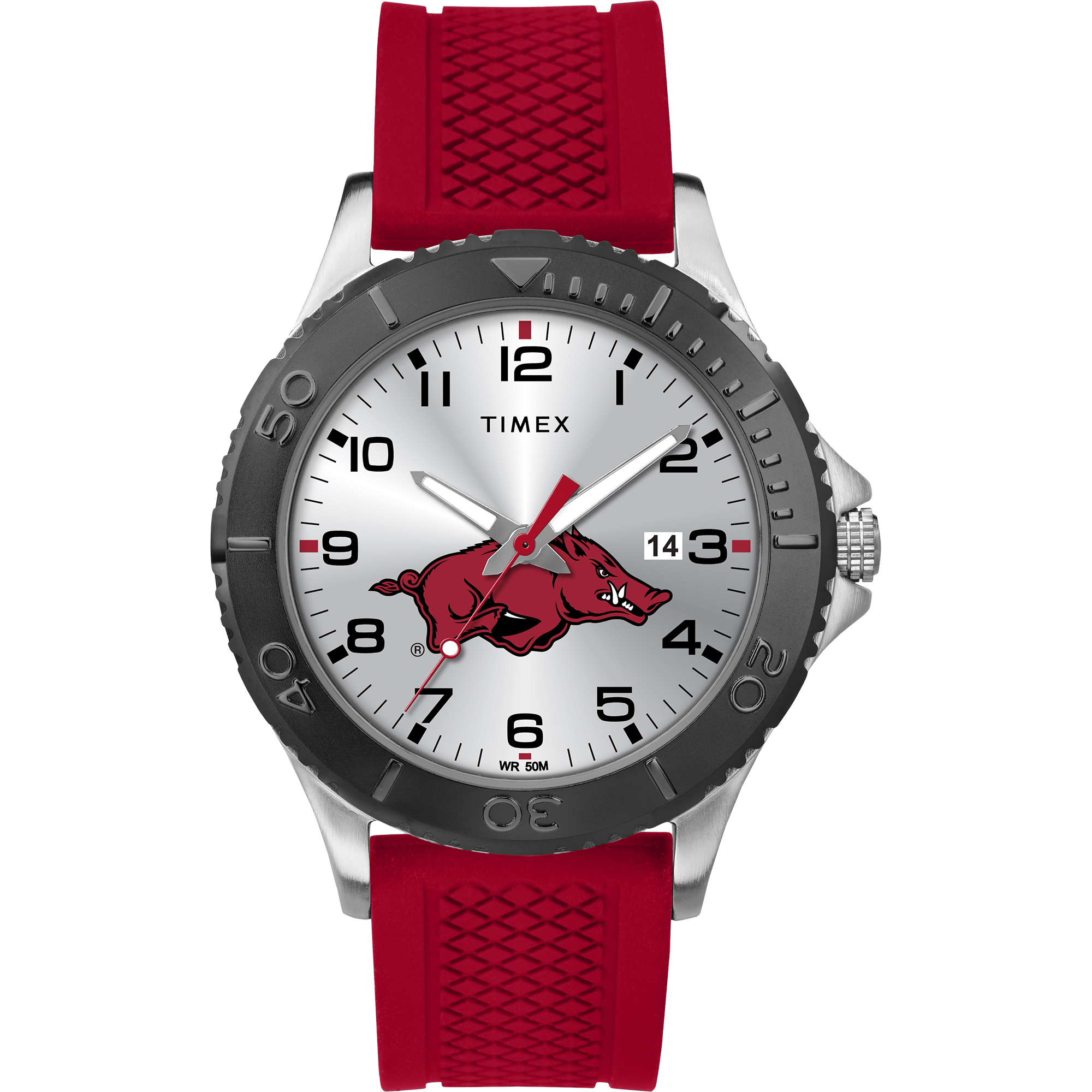 Timex - NCAA Tribute Collection Gamer Red Men's Watch, University of Arkansas Razorbacks